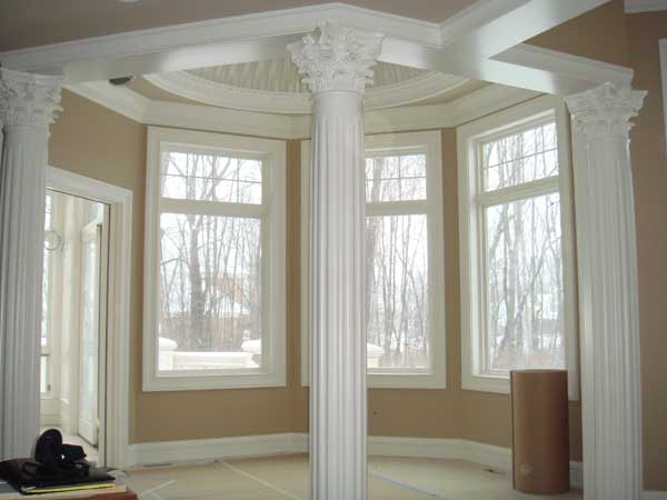 Melton Marble Load Bearing Columns With Corinthian Capitals