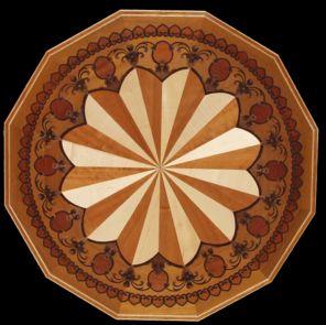 Renaissance floor in lays wood floor medallions for Wood floor medallions inlay designs